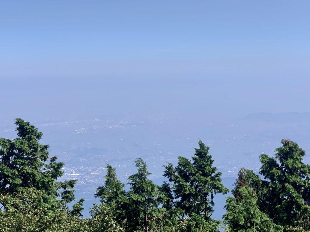 大山トレランで見た山頂からの風景