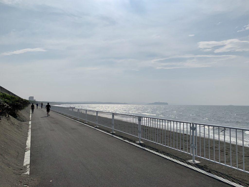 鵠沼〜柳島ランニング(サイクリング)コース、江ノ島へ向向かって