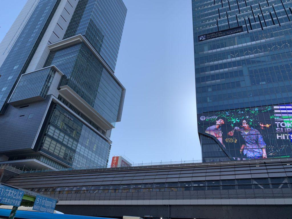 近代化が進む渋谷駅横をランニング