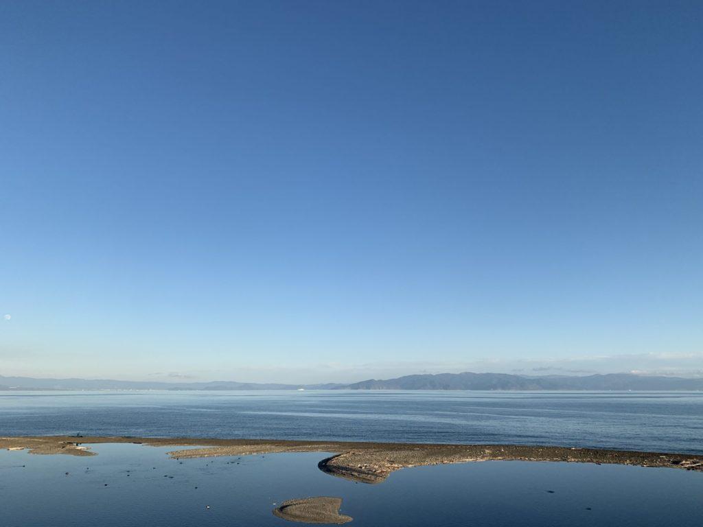 静岡県興津市の駿河健康ランドから太平洋眺め