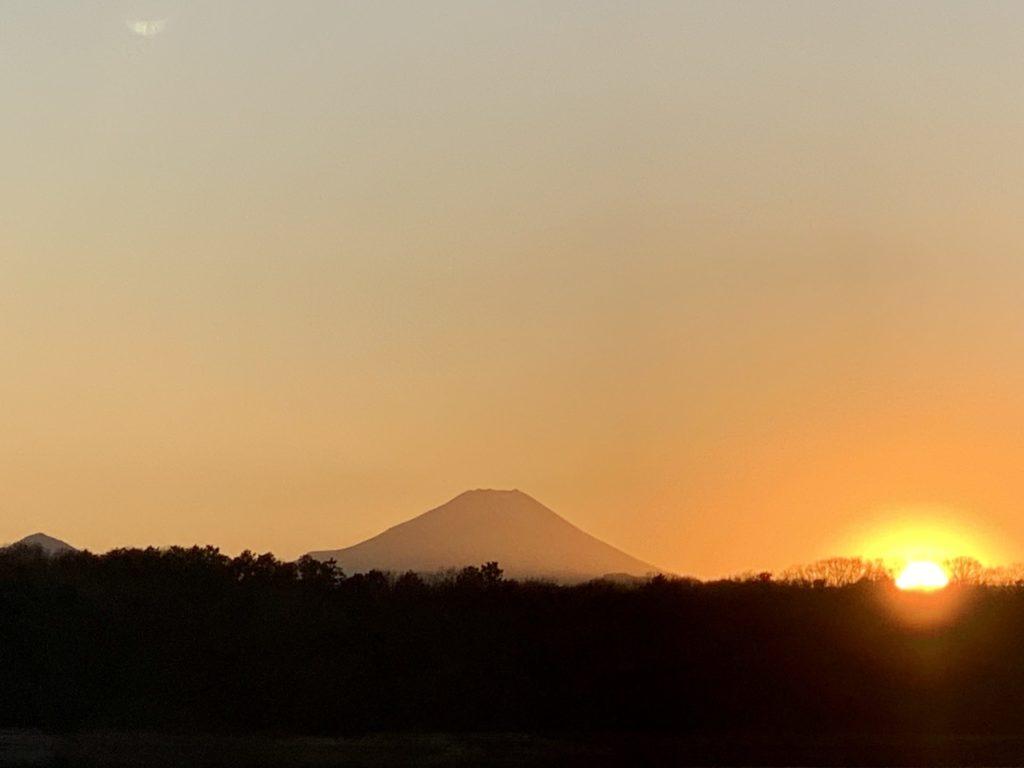 2021年元旦に見た富士