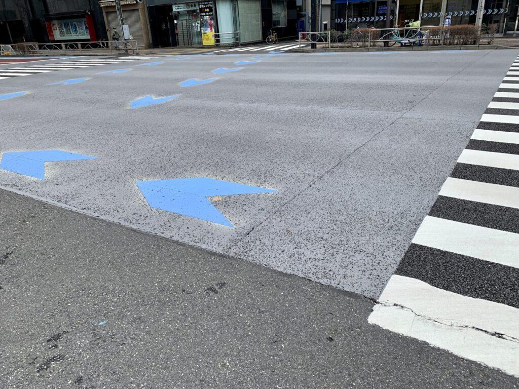 遮熱性舗装を走れる東京マラソン