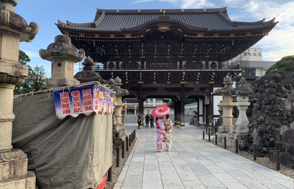 成田山新勝寺へランニングで訪問
