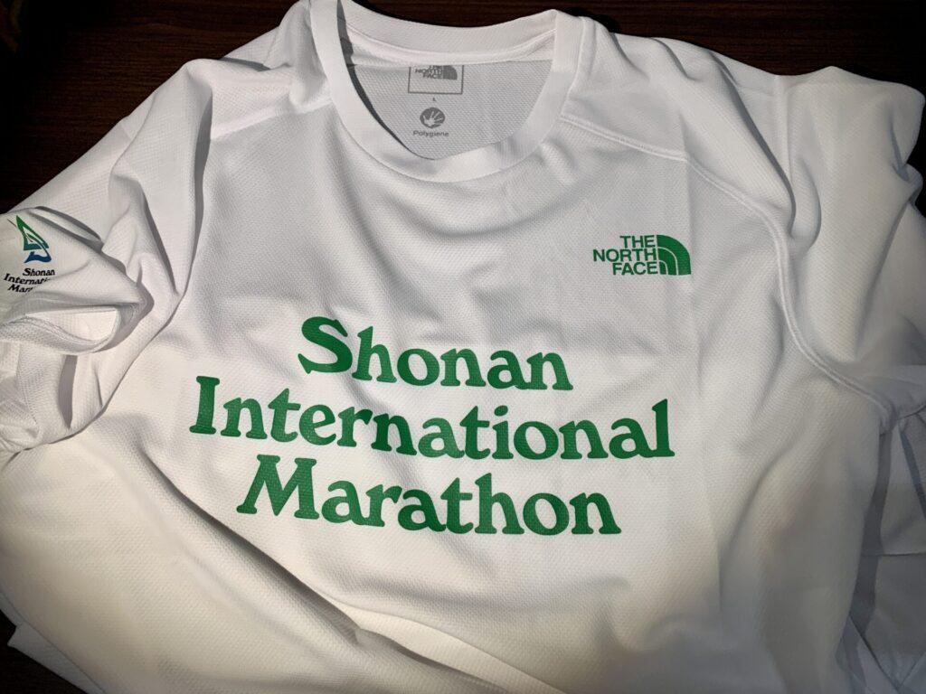 湘南国際マラソン2021の参加賞Tシャツ