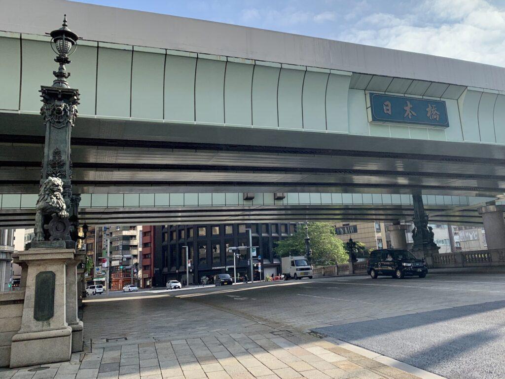 東京マラソンコース、日本橋