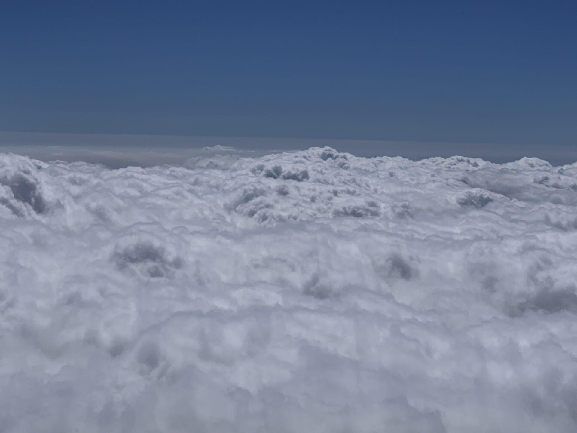 富士山七合目から望む雲海