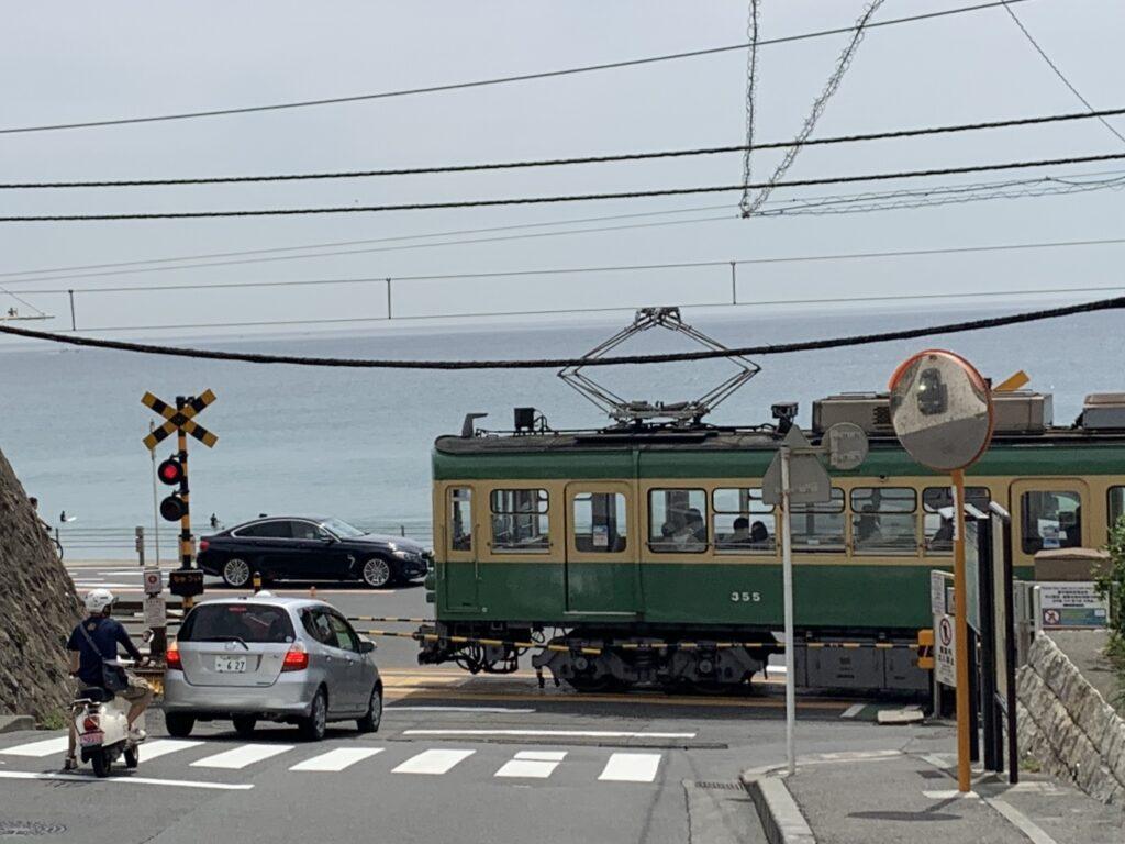 湘南ランニング、鎌倉高校前駅の踏切