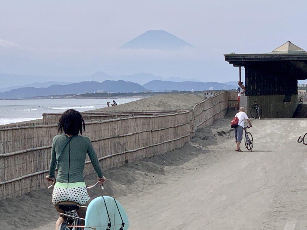 柳島まで富士山を眺めながらランニング