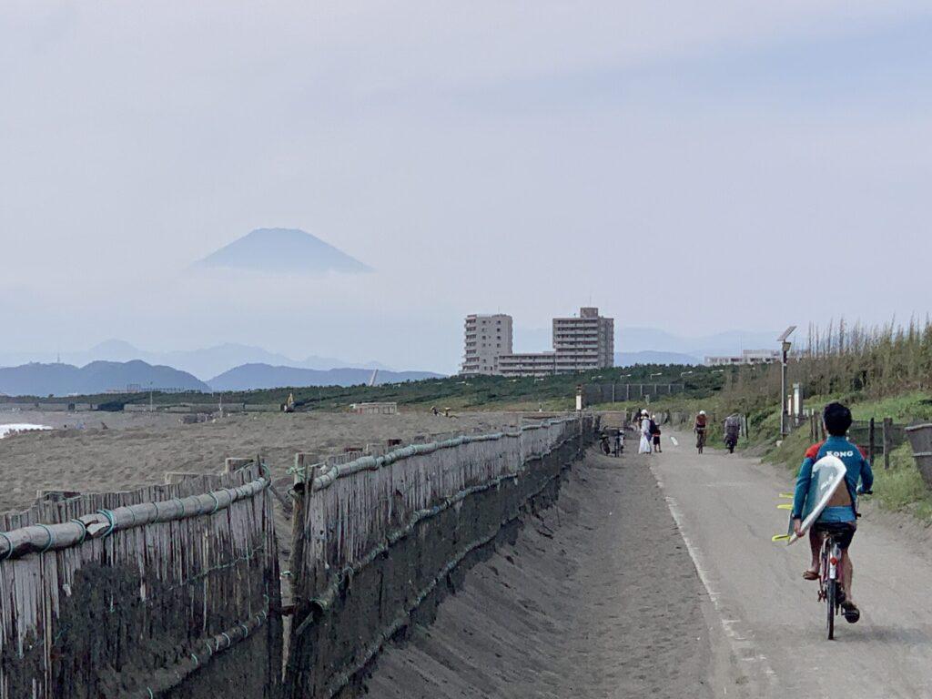 富士山を眺めながら湘南ランニング